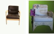Transformation eines Stuhles